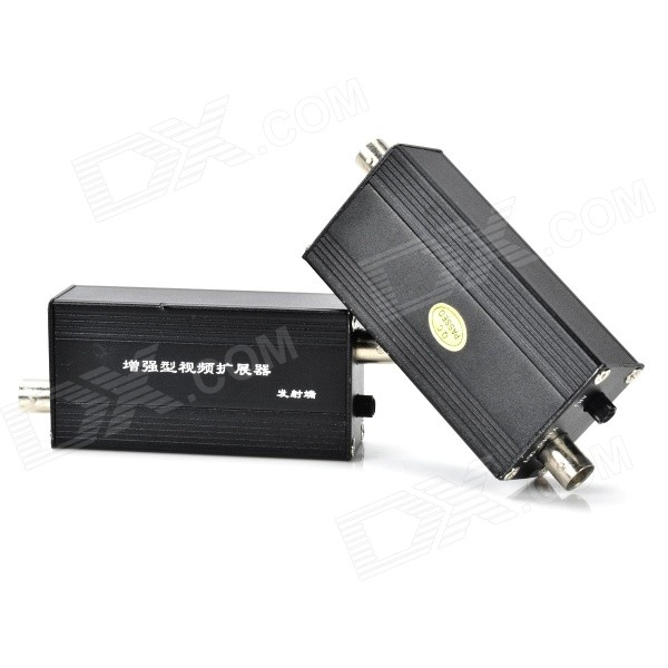 Transmitter + Receiver Anti-Inference Device for CCTV Monitor - Black