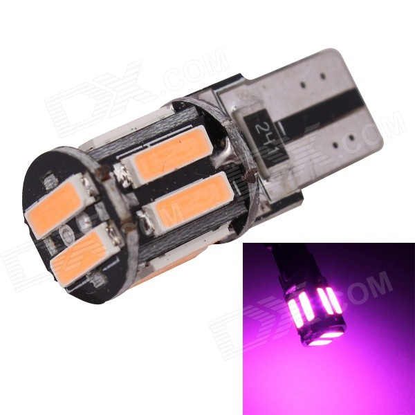 MZ T10 5W 380nm 400lm SMD 7020 Pink Car Lamp (12V)Tail Lights<br>Color BINPinkModelN/AQuantity1 DX.PCM.Model.AttributeModel.UnitMaterialPCBForm  ColorOthers,Multi-colorEmitter TypeLEDChip BrandOthers,7020 SMDChip Type7020 SMDTotal Emitters10Power5WWavelength360~380 DX.PCM.Model.AttributeModel.UnitTheoretical Lumens450 DX.PCM.Model.AttributeModel.UnitActual Lumens400 DX.PCM.Model.AttributeModel.UnitRate Voltage12VWaterproof FunctionNoConnector TypeT10ApplicationLicense plate light,Clearance lampPacking List1 x LED light<br>