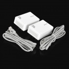 US Plugs 200Mbps Smart Wireless Power Line Ethernet Router Set - White