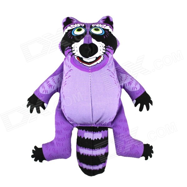 Buy Raccoon Style Doll Toy w/ Sound Effect for Pet - Purple + Black with Litecoins with Free Shipping on Gipsybee.com