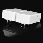 200Mbps Smart Wireless Power Line Wi-Fi Router + Extender Set - White