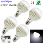 YouOKLight E27 15W LED Bombillas Fría Blanco 1300lm (220V / 4PCS)