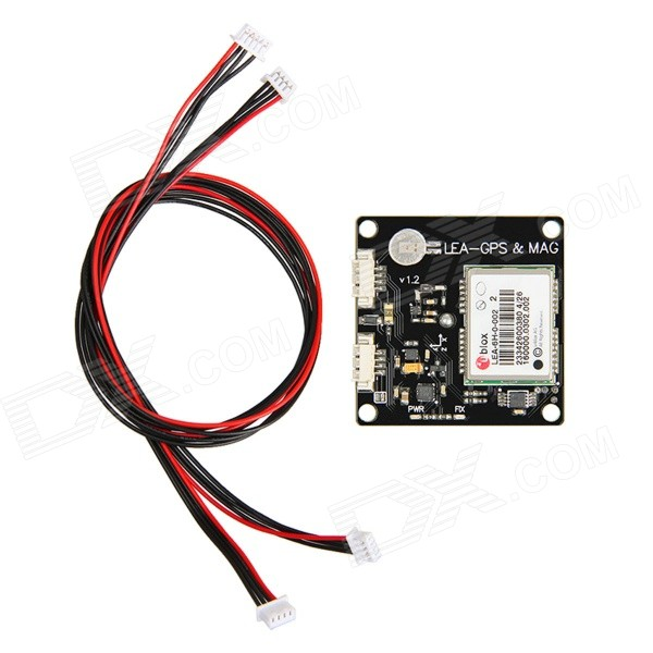 Geeetech LEA - 6H CRIUS LEA-GPS &amp; MAG GPS Module for APM 2.52 - BlackOther Accessories for R/C Toys<br>Form ColorBlackModelLEA - 6HMaterialAluminium alloyQuantity1 DX.PCM.Model.AttributeModel.UnitCompatible ModelAPM2.52, MWCOther Features1. Ublox LEA-6H GPS module<br>2. Cirocomm ceramic antenna<br>3. LNA amplifier and SAW filter<br>4. HMC5883L compass (Forward arrow direction is - y)<br>5. I2C EEPROM 32Kbit storage<br>6. SEIKO MS621FE rechargeable Li-po battery<br>7. With power indicator lamp (Red) and location indicator lamp (Green)<br>8. Super low noise LDO voltage regulator (GPS and compass share)<br>9.4-12V power supply, with reverse polarity protection<br>10. Could use external 3.3V power supply instead of internal LDO (Welding jumpers on the board and connecting the power from the compass)Packing List1 x LEA - GPS &amp; MAG1 x 30cm 4pin-5pin cable1 x 30cm 4pin-4pin cable<br>