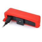 USB Rechargeable 150lm 6-mode Red Light 30-LED Lamp for Bicycle - Red