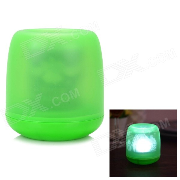 Flameless Blow on / off Sound Sensor White Light LED Candle - Green