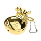 Creative Pouch Style Zinc Alloy Windproof Butane Gas Lighter - Golden