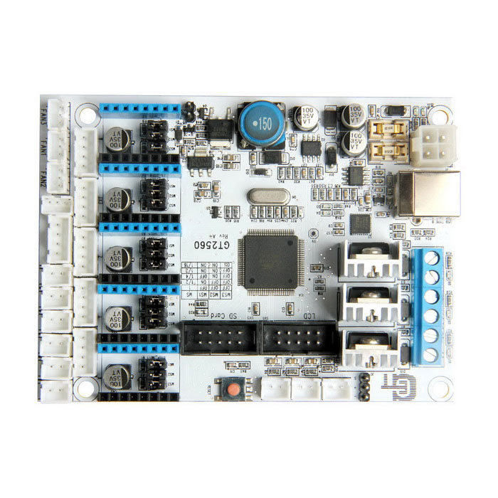 Buy Geeetech GT2560 ATmega2560 3D Printer Controller Board - White with Litecoins with Free Shipping on Gipsybee.com