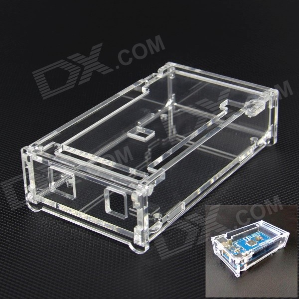 Protective New Acrylic Case for Arduino MEGA2560 R3 - Transparent