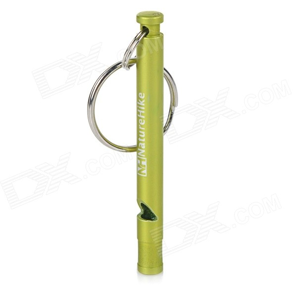 NatureHike Emergency / Survival Aluminum Alloy Whistle - GreenFirst Aid<br>Form ColorGreenModelN/AQuantity1 DX.PCM.Model.AttributeModel.UnitMaterial6001 aluminum alloyBest UseMultisport,Running,Climbing,Rock Climbing,Family &amp; car camping,Backpacking,Camping,Mountaineering,Travel,CyclingOther FeaturesUltra light and slim design; Suitable for travelling, mountaineering and other outdoor sports.Packing List1 x Whistle<br>