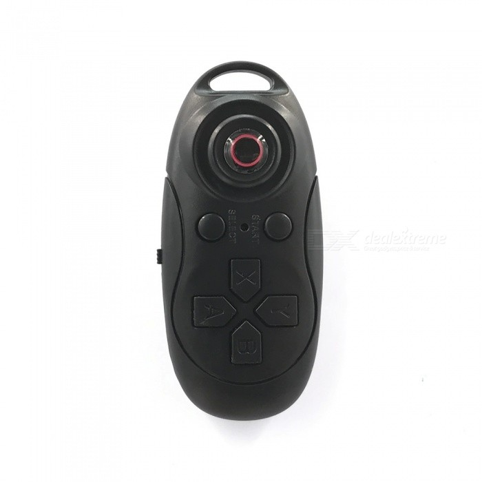 2-in-1 Bluetooth V3.0 Remote Shutter Release & Music Controller for Android / IOS Cellphone - Black