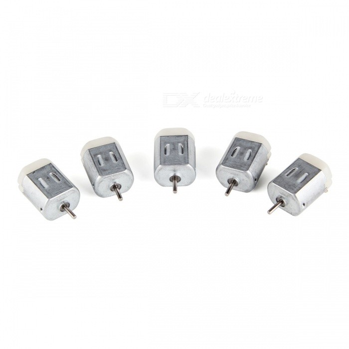 DC 1V-6V 130-Type Micro Motor for Car Model Toy - Silver (5PCS)