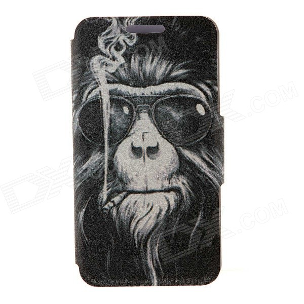 Kinston Smoking Monkey Pattern Case for IPHONE 6 PLUS - White + BlackLeather Cases<br>Form ColorWhite + Black + Multi-ColoredModelKST93792Quantity1 DX.PCM.Model.AttributeModel.UnitMaterialPU + plasticCompatible ModelsIPHONE 6 PLUSStyleFull Body CasesDesignMixed Color,Graphic,With Stand,Cartoon,Card SlotAuto Wake-up / SleepNoPacking List1 x Case<br>
