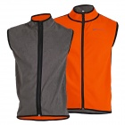 NUCKILY MI005 Cycling Waistcoat Vest - Orange + Deep Grey (XXL)