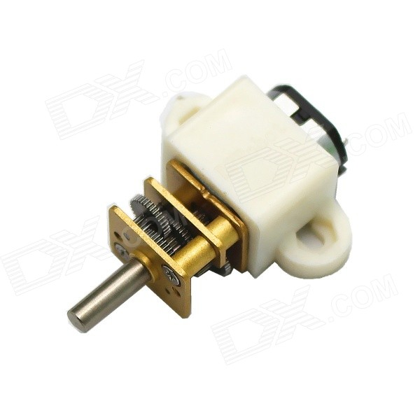 DC 6.0V 165RPM Precision Gear Reducer Motor w/ Large Torque &amp; Low NoiseDIY Parts &amp; Components<br>Model08220-100-10D+ZJQuantity1 DX.PCM.Model.AttributeModel.UnitForm  ColorWhiteMaterialABS+ brass + iron + steelChipsetDCEnglish Manual / SpecNoOther FeaturesNOCertificationNOPacking List1 x Gear motor1 x Plastic bracket<br>