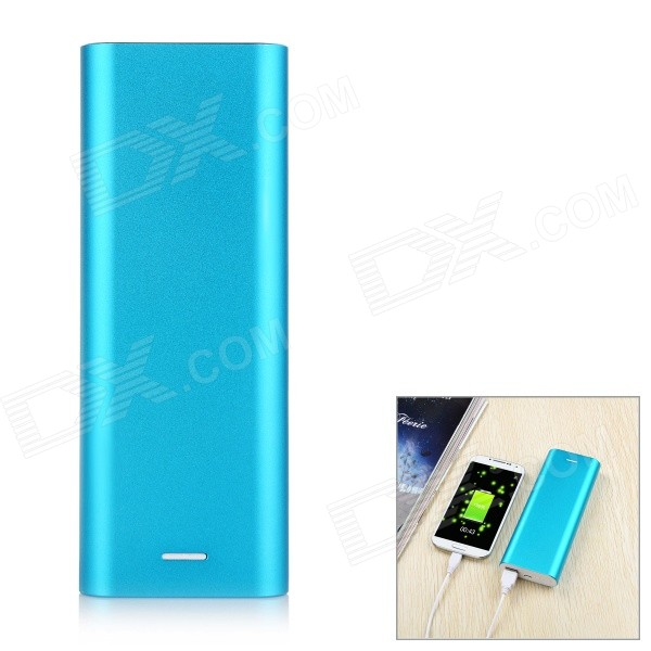 Solder-Free Replaceable 6*18650 13200mAh Mobile Power Bank - Blue