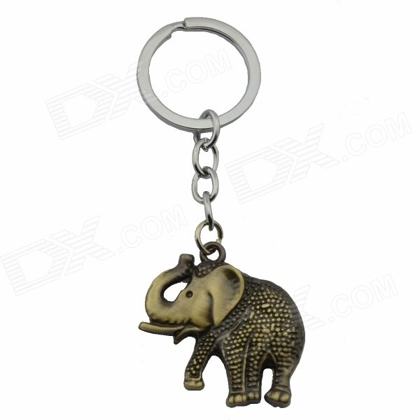 Creative Elephant Style Key Ring Keychain - Bronze + Silver