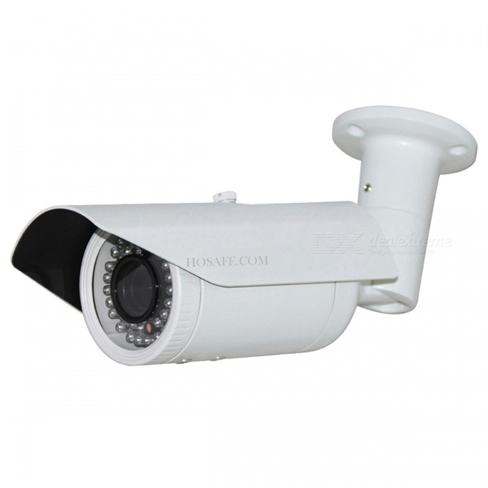 HOSAFE 1080P 2.0MP 2.812mm Zoom POE Outdoor IP Camera Without Power Adapter - White