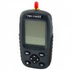 2.5'' Dot Matrix LCD Rechargeable Wireless Sonar Fish Finder - Grey