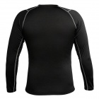 WOLFBIKE Men's Long-sleeved Cycling Jersey + Pants Suit - Black (L)