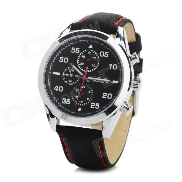 CURREN 8156 Mens PU Leather Quartz Watch - BlackLeather Strap Watches<br>Form ColorBlackModel8156Quantity1 DX.PCM.Model.AttributeModel.UnitShade Of ColorBlackWristband MaterialPU leatherCasing MaterialAlloyGenderMenSuitable forAdultsStyleWrist WatchTypeFashion watchesDisplayAnalogBacklightNoMovementQuartzDisplay Format12 hour formatWater ResistantWater Resistant 3 ATM or 30 m. Suitable for everyday use. Splash/rain resistant. Not suitable for showering, bathing, swimming, snorkelling, water related work and fishing.Dial Diameter4 DX.PCM.Model.AttributeModel.UnitDial Thickness1.3 DX.PCM.Model.AttributeModel.UnitBand Width2.2 DX.PCM.Model.AttributeModel.UnitWristband Length25.8 DX.PCM.Model.AttributeModel.UnitBatteryBuilt-in 1 x 626 button cellOther FeaturesSubdials can not work, just for decorationPacking List1 x Watch<br>
