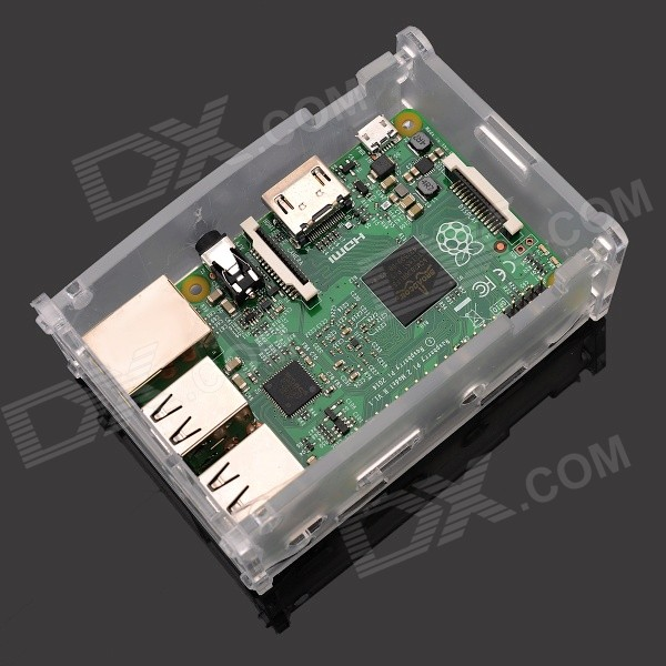 3-in-1-Raspberry-Pi-2-Model-B-Board-2b-Acrylic-Shell-Kit-Green
