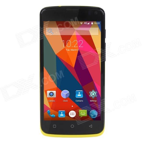 Elephone G2 Android5.0 Quad-core 4G Phone w/ 1GB RAM, 8GB ROM - Yellow