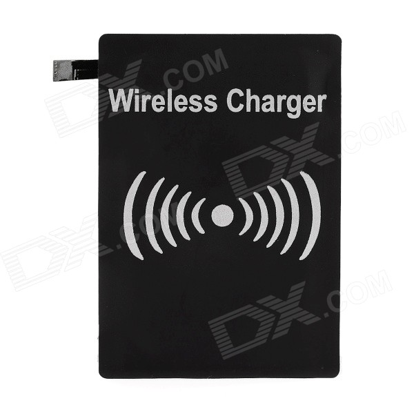Qi Wireless Charger Receiver for Samsung Galaxy S5 - Black (5V)Wireless Chargers<br>Form  ColorBlackPower AdapterWithout Power AdapterModelN/AQuantity1 DX.PCM.Model.AttributeModel.UnitMaterialCopper + PCBExecutive StandardQiShade Of ColorBlackTypeOthers,Wireless charger receiverCompatible ModelsSamsung Galaxy S5Transmition Distance5mm-7mmCharging Efficiency75%Built-in BatteryNoInput Voltage5 DX.PCM.Model.AttributeModel.UnitOutput Current600 DX.PCM.Model.AttributeModel.UnitTypeReceiverPacking List1 x Receiver<br>