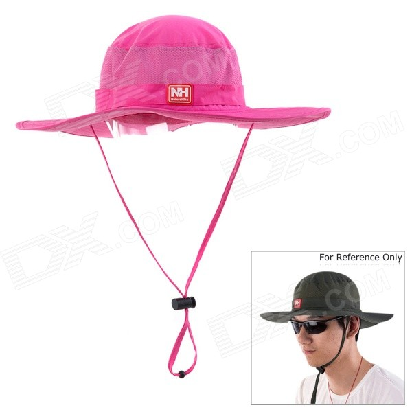 NatureHike Outdoor Fishing Quick-Dry Sun Block Hat Cap - Deep Pink