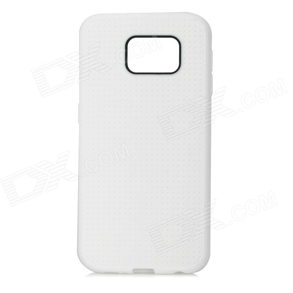 Protective TPU Back Case for Samsung Galaxy S6 - WhiteTPU Cases<br>Form  ColorWhiteQuantity1 DX.PCM.Model.AttributeModel.UnitMaterialTPUShade Of ColorWhiteCompatible ModelsSamsung Galaxy S6DesignSolid ColorStyleBack CasesOther FeaturesProtects the cell phone from dust, shock and scratches.Packing List1 x Case<br>