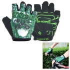 INBIKE Cycling Breathable Half-Finger Gloves - Green + Black (XL)