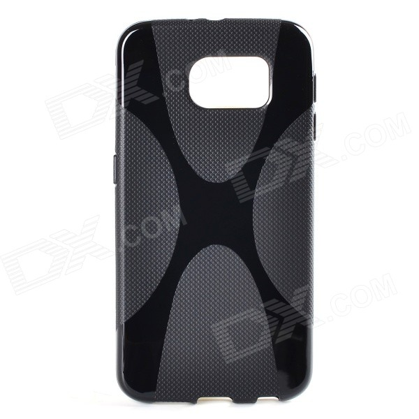 X Pattern Non-Slip TPU Back Case for Samsung Galaxy S6 - BlackTPU Cases<br>Form ColorBlackQuantity1 DX.PCM.Model.AttributeModel.UnitMaterialTPUShade Of ColorBlackCompatible ModelsSamsung Galaxy S6DesignSolid Color,GraphicStyleBack CasesPacking List1 x Case<br>