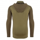 EDCGEAR Men's Casual Hoodie Sweatshirt Fleece - Khaki (XL)