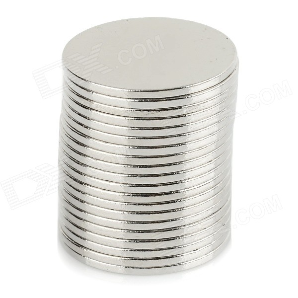 NdFeB N35 Round Magnets - Silver (15*1mm / 20PCS)Magnets Gadgets<br>ColorSilverMaterialNdFeBQuantity1 SetNumber20Suitable Age 12-15 Years,GrownupsPacking List20 x Magnets<br>