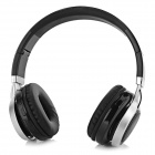 kuba's Bluetooth V4.0 Headband Headphone w/ Mic, TF - Black + Silver