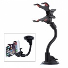 CKQ-0202 Car Suction Cup Mount Holder for Mobile Phone - Black + Red