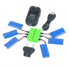 WSX-X6A 6*500mAh Batteries + Charger + TOL Adapter + USB Cable Set