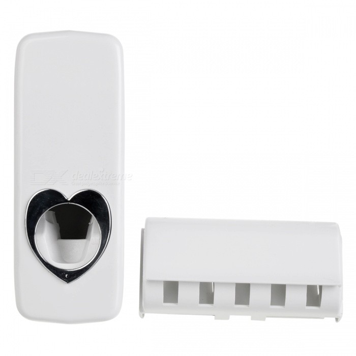 Buy 2-in-1 Automatic Toothpaste Squeezing Device + Toothbrush Holder with Litecoins with Free Shipping on Gipsybee.com
