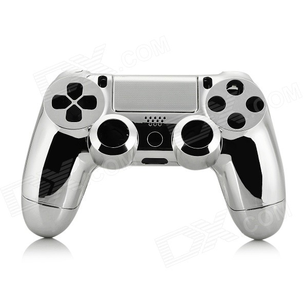 ABS Cases + Joystick Caps + Keys Set for PS4 Controller - SilverControllers Attachments<br>Form  ColorSilverQuantity1 DX.PCM.Model.AttributeModel.UnitMaterialABSCompatible ModelsPS4CertificationN/APacking List1 x Upper case1 x Bottom case2 x Joystick caps4 x Function keys1 x Direction key1 x L1 key1 x L2 key1 x R1 key1 x R2 key1 x Power key1 x SHARE key1 x OPTIONS key1 x Mainboard bracket3 x Touchpad holders3 x Lampshades<br>