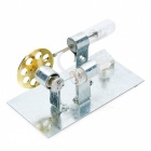 DIY Heat Power Stirling Engine Educational Toy - Silver