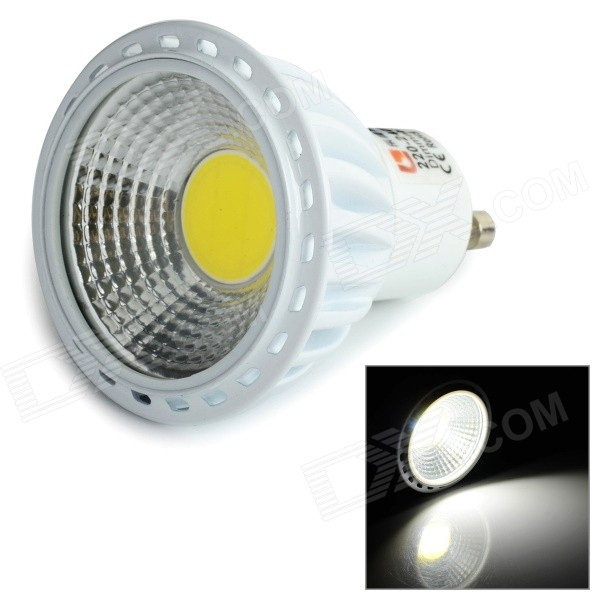 LeXing Lighting GU10 6W LED Dimming Spotlight Cold White (AC 220~240V)GU10<br>Form  ColorWhite + Light YellowColor BINCold WhiteModelLX-GU10-COB-DIM-2MaterialDie-casting aluminum + plasticQuantity1 DX.PCM.Model.AttributeModel.UnitPowerOthers,6WRated VoltageAC 220-240 DX.PCM.Model.AttributeModel.UnitConnector TypeGU10Theoretical Lumens450 DX.PCM.Model.AttributeModel.UnitActual Lumens400 DX.PCM.Model.AttributeModel.UnitEmitter TypeCOBTotal Emitters1Color Temperature12000K,Others,5600~6500KDimmableYesBeam Angle80 DX.PCM.Model.AttributeModel.UnitCertificationCE, RoHSOther FeaturesEnergy-saving; Environmentally-friendly; Good choice for home and hotel lighting.  Pay attention: please use triac dimmer.Packing List1 x LED spotlight<br>