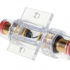 AGU60A DIY Car Audio Fuse Holder - White + Golden + Red