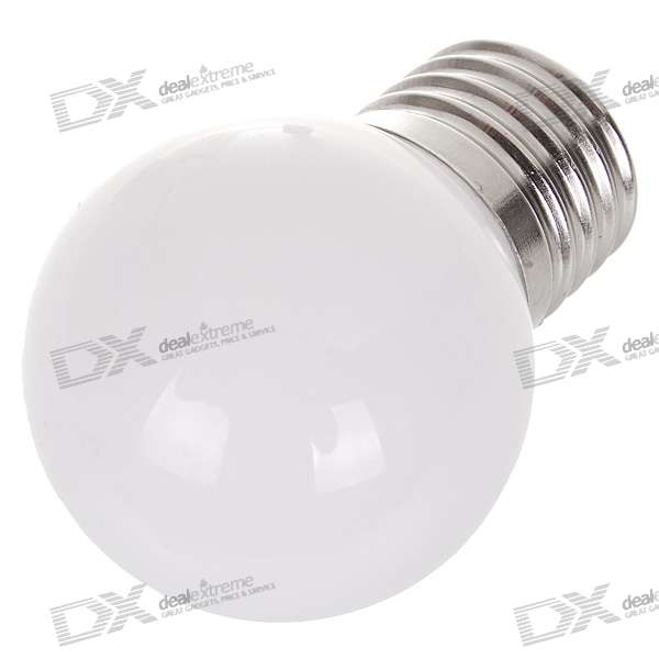 E27 0.7W 35-Lumen White Light LED Globular Bulb (85~265V AC)