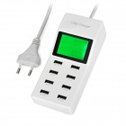 5V-92A-8-Port-USB-20-Charger-w-18-LED-Display-White