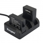 Kingma 3-Slot Battery Charger for GoPro Hero 3 / 3+ / 4 - Black