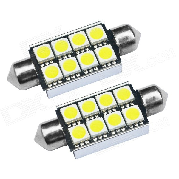 Buy JIAWEN Festoon 42mm 1.5W White LED Car CANBUS Reading Light (2PCS) with Litecoins with Free Shipping on Gipsybee.com