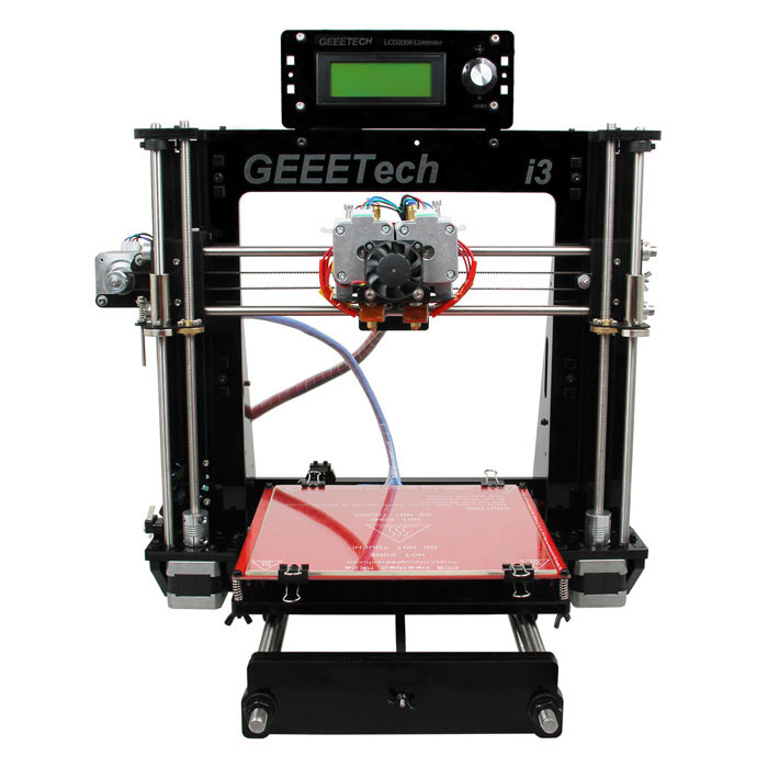 Buy Geeetech Acrylic Prusa Dual Head Extruder MK8 Unassembled Kit with Litecoins with Free Shipping on Gipsybee.com