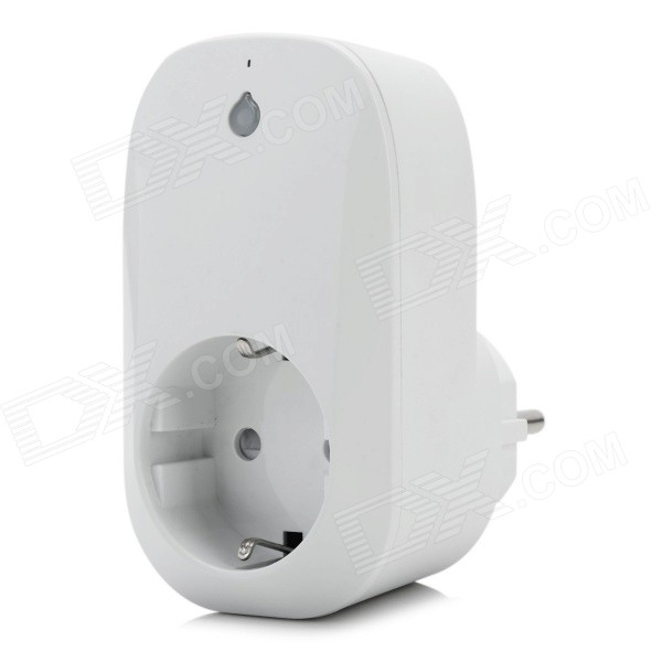 Smart Phone Remote Control Socket w/ WiFi - White (EU Plug)