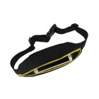 Oushine Outdoor Zipper Elastic Waist Bag for IPHONE - Black + Yellow