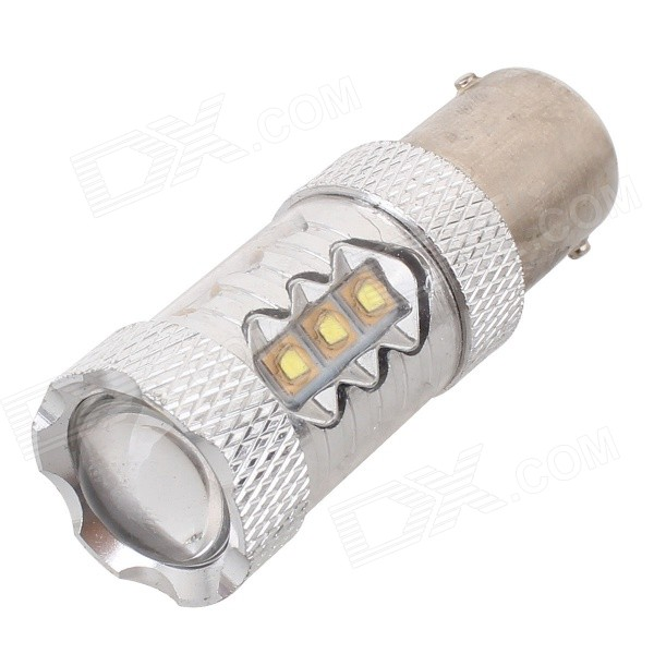 MZ 1156 80W 4000lm 16*XT-E LED Car Fog Light / Backup Light (12~24V)Tail Lights<br>Color BINH11 80W Model1156 80WQuantity1 DX.PCM.Model.AttributeModel.UnitMaterialAluminumForm  ColorSilver + YellowEmitter TypeLEDChip BrandCreeChip TypeXT-ETotal EmittersOthers,16PowerOthers,80WColor Temperature5000 DX.PCM.Model.AttributeModel.UnitTheoretical Lumens4400 DX.PCM.Model.AttributeModel.UnitActual Lumens4000 DX.PCM.Model.AttributeModel.UnitRate Voltage12~24VWaterproof FunctionNoConnector Type1156ApplicationBackup light,FoglightPacking List1 x LED Bulb<br>