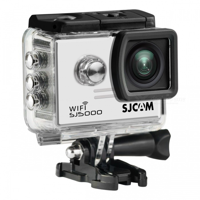 SJCAM SJ5000 Wi-Fi 2.0 14MP 1080P Action Sport Camera - White + BlackSport Cameras<br>Form  ColorWhite + Black + Multi-ColoredModelSJ5000Shade Of ColorWhiteMaterialABS plasticsQuantity1 DX.PCM.Model.AttributeModel.UnitImage SensorCMOSImage Sensor SizeOthers,1/2.33Anti-ShakeYesFocal DistanceF= 2.8 DX.PCM.Model.AttributeModel.UnitFocusing RangeF= 2.8Optical ZoomNoDigital Zoom4XBuilt-in SpeedliteNoSpeedlite RangeNoApertureNoAperture RangeNoWide Angle170-degree A + high-definition wide-angle lensEffective Pixels14MPMax. Pixels14MP 4254 x 3264 DX.PCM.Model.AttributeModel.UnitImagesJPEGStill Image Resolution14M 4254x3264<br>12M 4000x3000<br>8M3 264x2448<br>5M 2560x1920<br>3M 2048x1536         <br>2M Wide 1920x1080VideoMOV,MP4Video ResolutionFull HD: 1920*1080P 30 fps<br>720P: 1280*720P 60/30 fps (double frame, not true 60fps)<br>480P: 640*480P 60/fpsVideo Frame Rate30,60Audio SystemStereoCycle RecordYesISOOthers,Auto, 100, 200, 400, 800, 1400Exposure Compensation-2;-1.7;-1.3;-1;-0.7;-0.3;0;+0.3;+0.7;+1;+1.3;+1.7;+2.0Scene ModeAutoWhite Balance ModeOthers,AutoSupports Card TypeTFSupports Max. Capacity32 DX.PCM.Model.AttributeModel.UnitBuilt-in Memory / RAMNoInput InterfaceMicOutput InterfaceMicro USB,Mini HDMILCD ScreenYesScreen TypeTFTScreen Size2.0 DX.PCM.Model.AttributeModel.UnitScreen Resolution960*240Battery Measured Capacity 900 DX.PCM.Model.AttributeModel.UnitNominal Capacity900 DX.PCM.Model.AttributeModel.UnitBattery TypeLi-polymer batteryBattery included or notYesBattery Quantity1 DX.PCM.Model.AttributeModel.UnitVoltage3.7 DX.PCM.Model.AttributeModel.UnitBattery Charging Time3~4Low Battery AlertsYesWater ResistantWater Resistant 3 ATM or 30 m. Suitable for everyday use. Splash/rain resistant. Not suitable for showering, bathing, swimming, snorkelling, water related work and fishing.Supported LanguagesEnglish,Simplified Chinese,Traditional Chinese,Russian,Italian,French,GermanCertificationCE FCCPacking List1 x SJ5000 Plus Sports Camera1 x Waterproof Housing1 x Quic